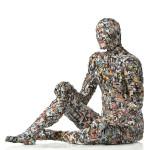 Lo splendido mostro, Stampe fotografiche, rete metallica e cartapesta