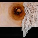 Nostalgia d'amore, Olio su tela e acrilico su tessuto 100x150cm